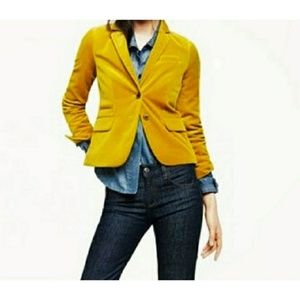 J. Crew Schoolboy Blazer Mustard Yellow Jacket EUC